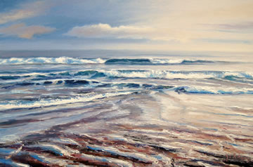 Beach-Meditation---Oil-on-Canvas--50-x-75-cm-