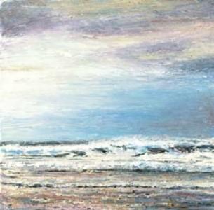 Beach Scene 300mm x 300mm, oil on linen