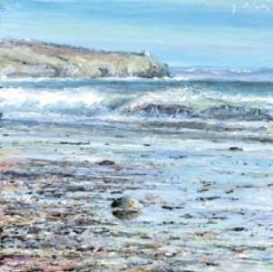 Beach Study 300mm x 300mm, oil on canvas