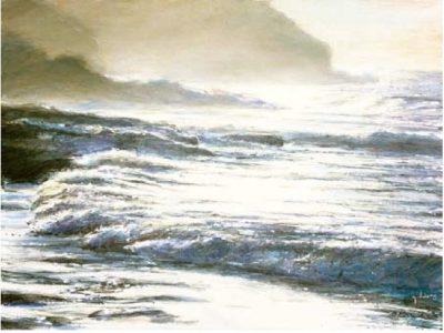 Cornish Coast I 600mm x 800mm, oil on linen