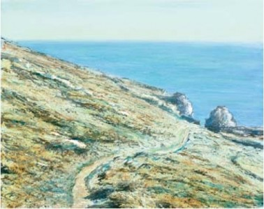 Cornish Path near Rinsey 400mm x 500mm, oil on linen