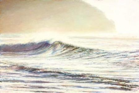 Cornish Shorebreak 500mm x 760mm, oil on linen