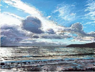 Grey Sea, Kennack 600mm x 805mm, oil on canvas
