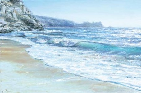 Porthcurno 400mm x 600mm, oil on linen