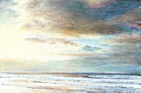 Sea and Sky 400mm x 600mm, oil on linen