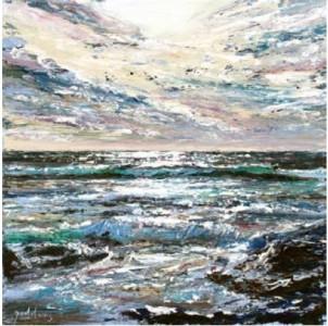 Storm Sky II, Poldhu Cove 400mm x 400mm, oil on canvas,