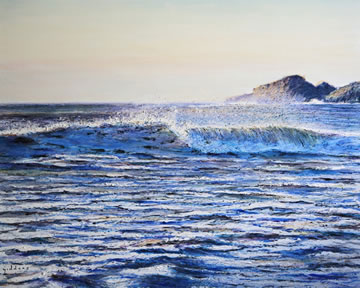 Summer-Wave---Oil-on-Canvas--51-x-76-cm-