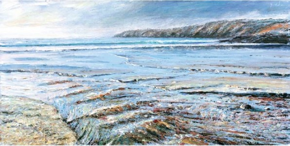 The River, Kennack Sands 500mm x 1000mm, oil on canvas