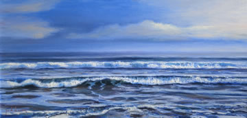 Waves--Oil-on-Canvas--29.5-x-59.5-cm-