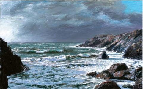 Winter Storm, Kynance I 760mm x 1220mm, oil on canvas,