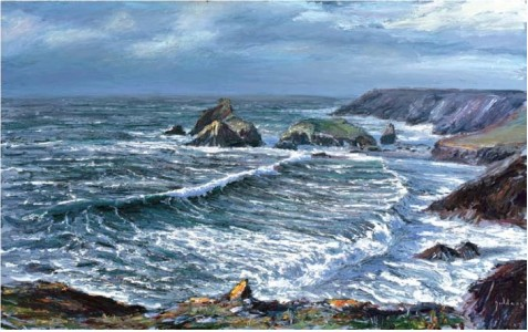 Winter Storm, Kynance II 760mm x 1220mm, oil on canvas