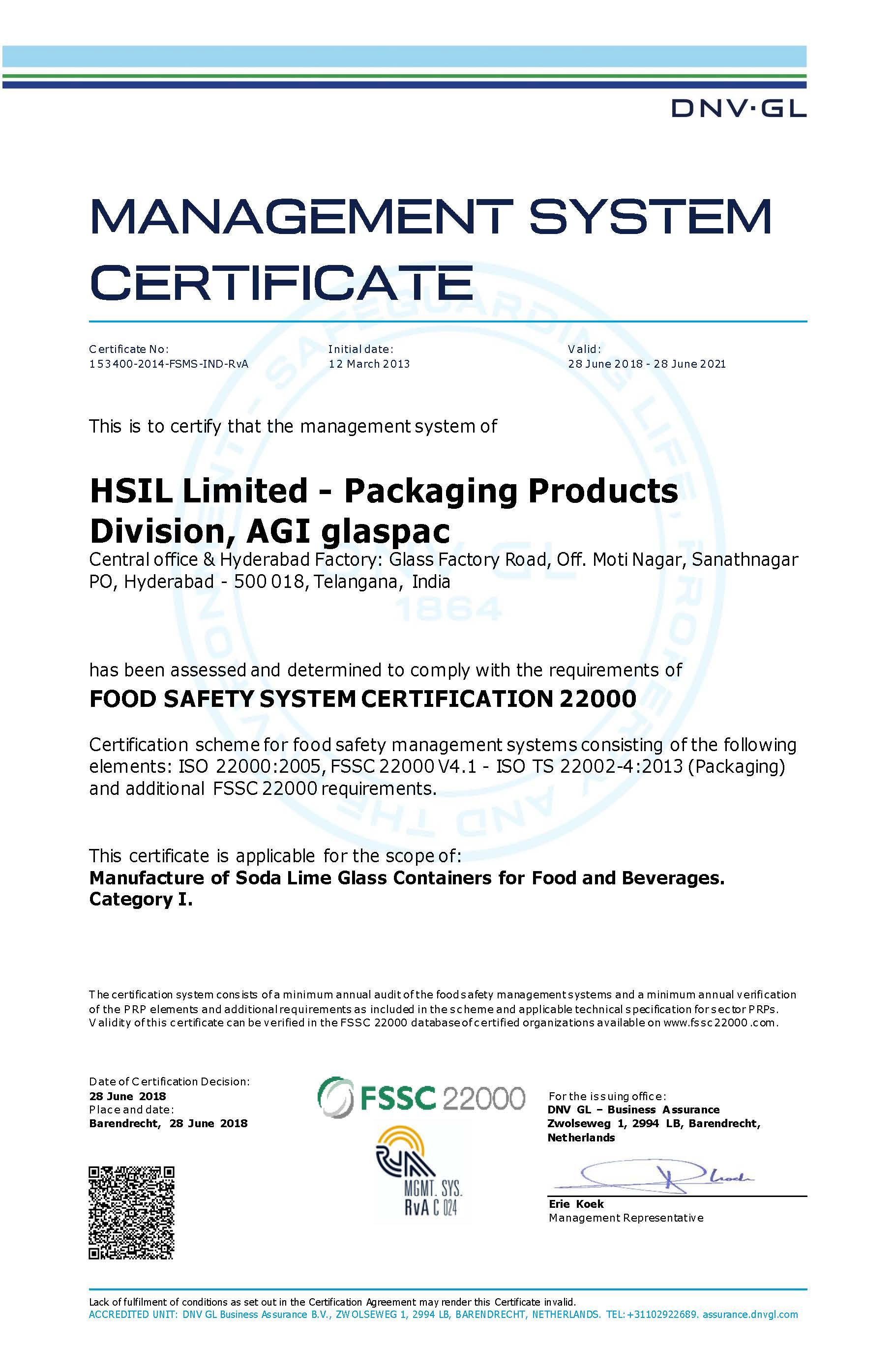 Hyderabad Certificate 1