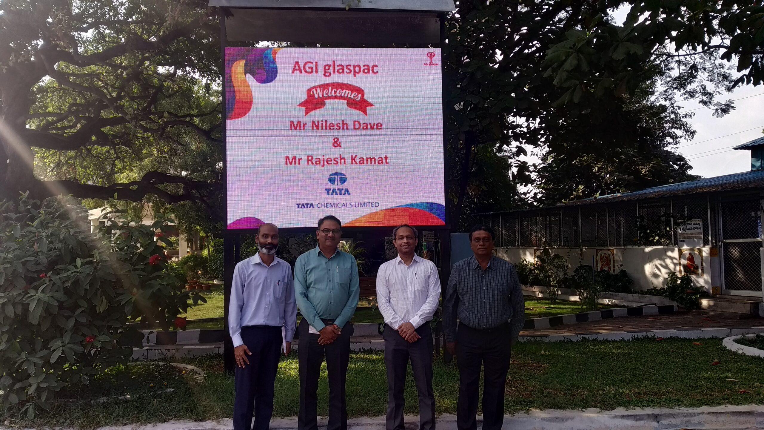 Mr. Nilesh Dave And Mr. Rajesh Kamat From Tata Chemicals