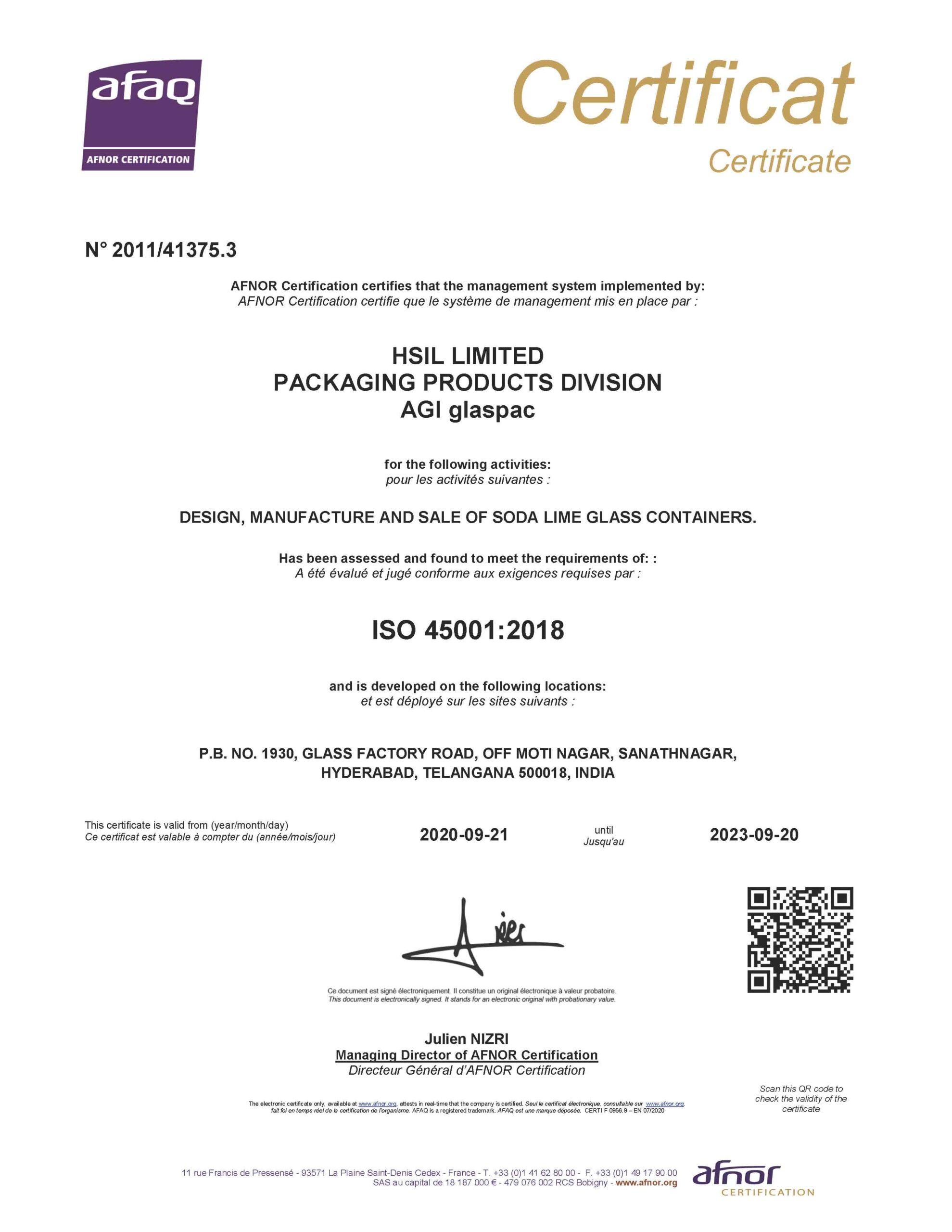had certificate 4