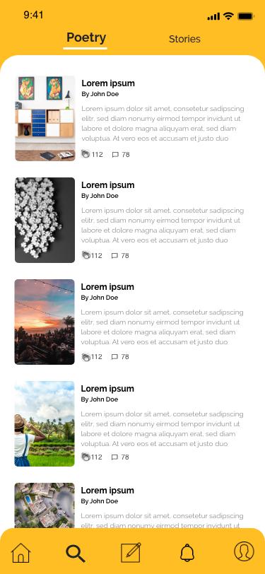 Writing App Design