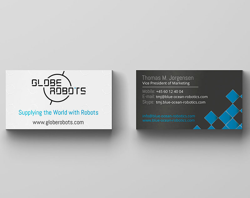 Globe Robots Roll-up & Business Card