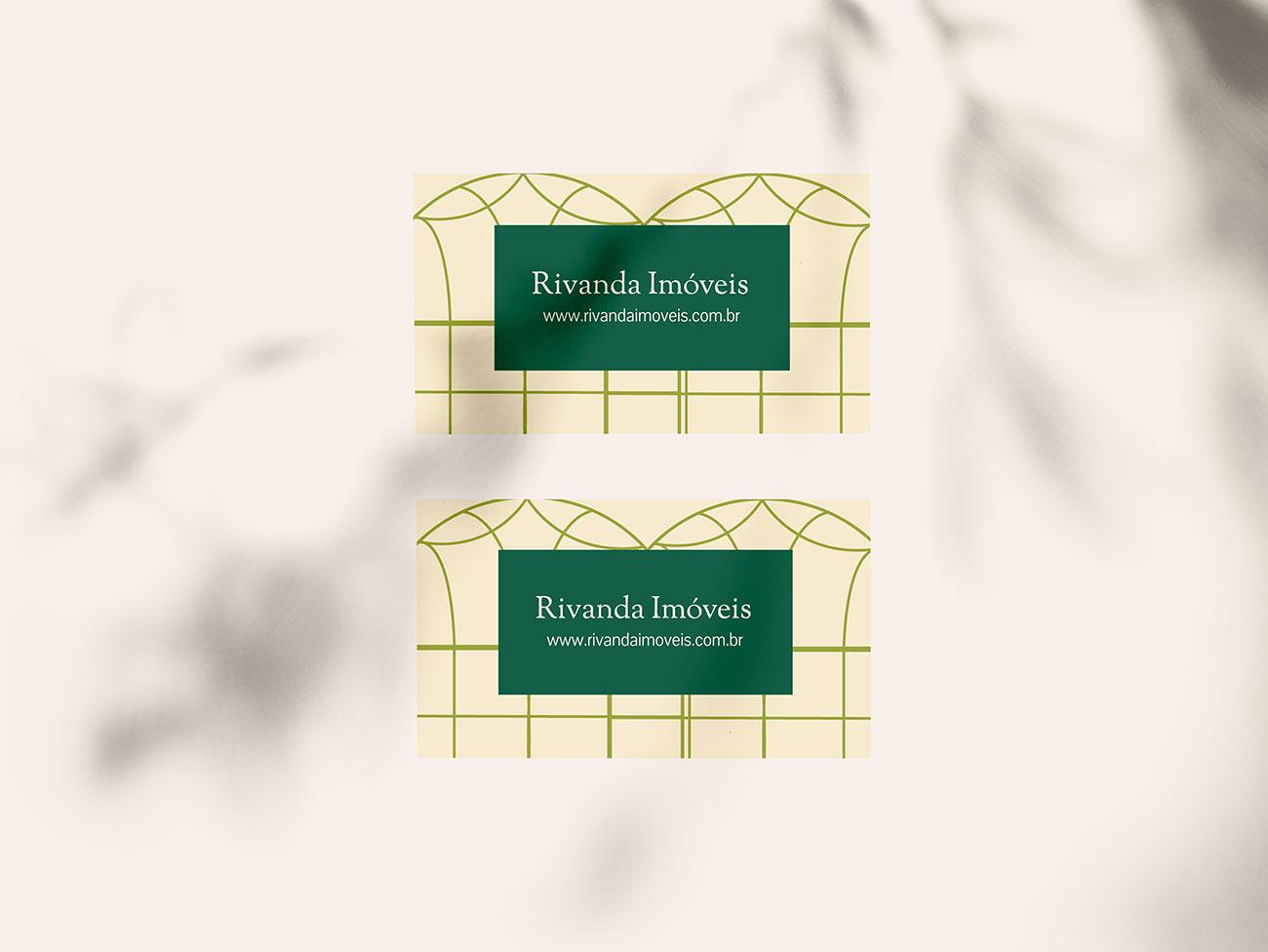 Rivanda Imóveis Logo Design