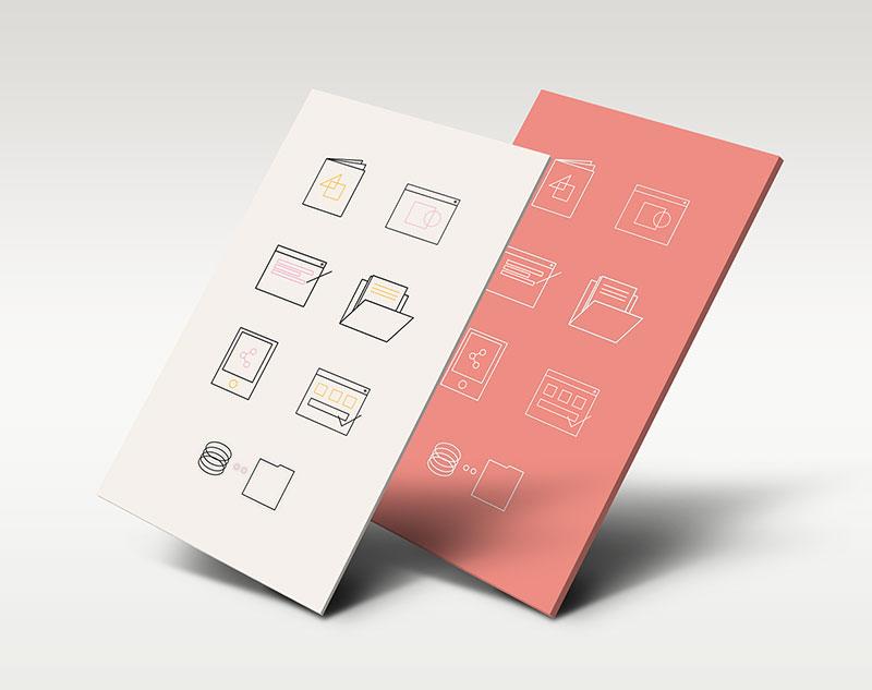 Minimalist custom icon set