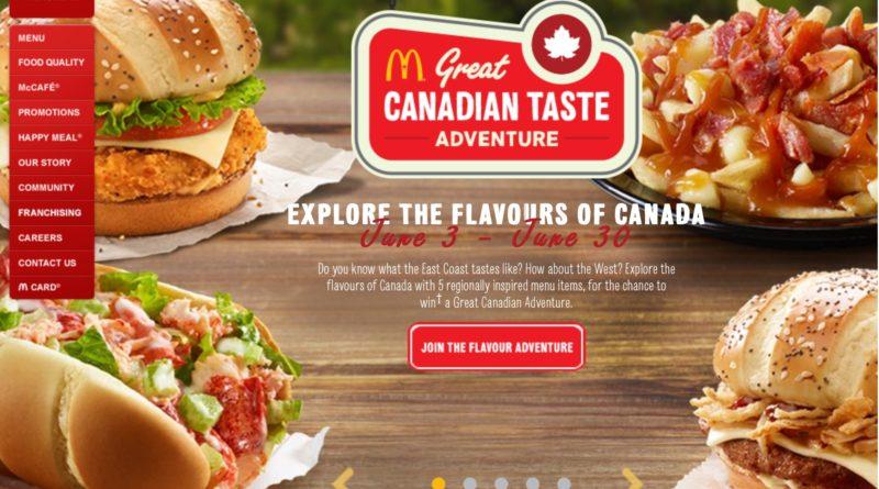 McDonald's Great Canadian Taste Adventure