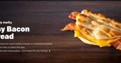 McDonald's Cheesy Bacon Flatbread
