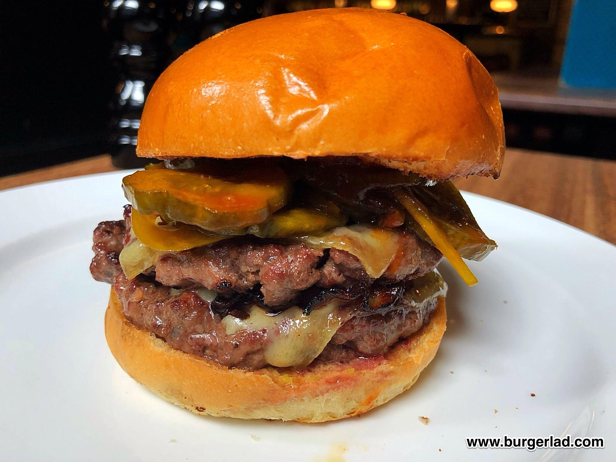Hawksmoor Bacon Double Cheese Burger