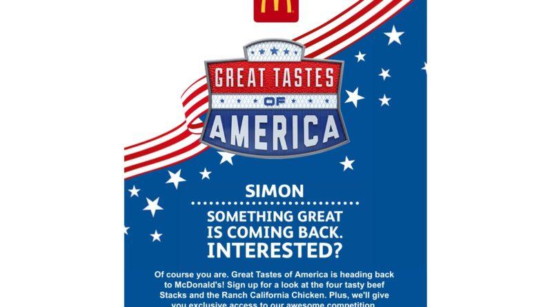 McDonald's Great Tastes of America 2018