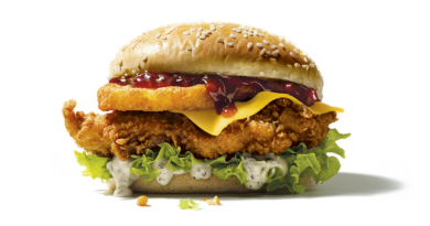 KFC Colonel's Christmas Burger