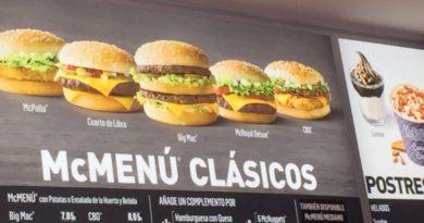McDonald's Spain Prices