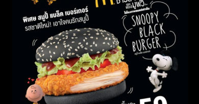 McDonald's Snoopy Black Burger