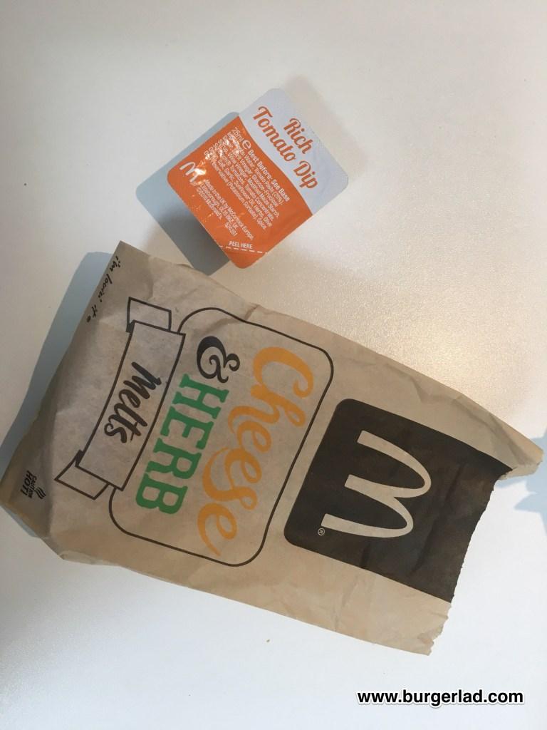 McDonald's Cheese & Herb Melts