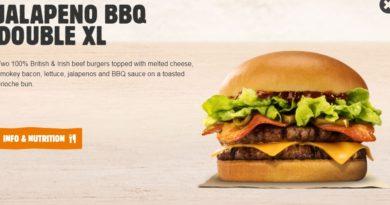 Burger King Jalapeño BBQ Double XL
