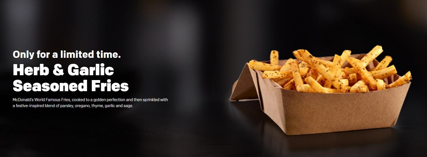 McDonald's Herb & Garlic Seasoned Fries