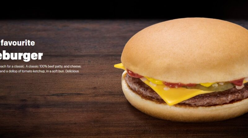 kalorier mcdonalds cheeseburger