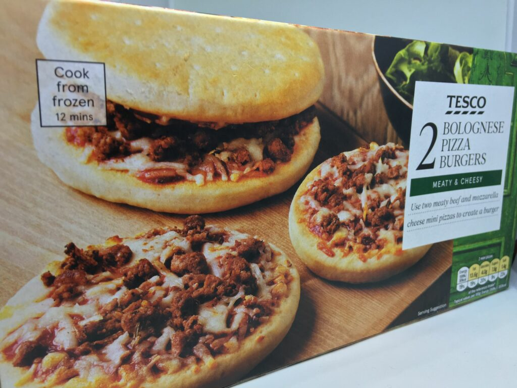 Tesco Bolognese Pizza Burgers Price Review Calories Uk 2019