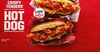 KFC France Crispy Tenders Hot Dog