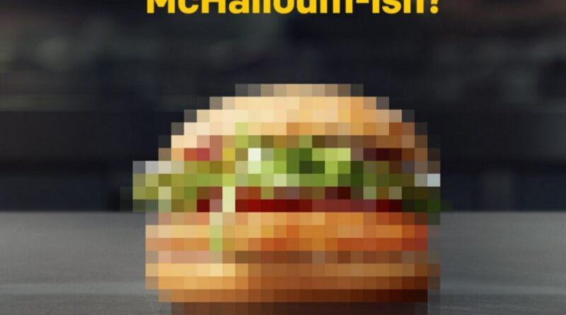 McDonald's Halloumi Burger