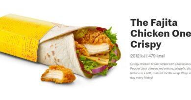 Fajita Chicken Wrap Crispy
