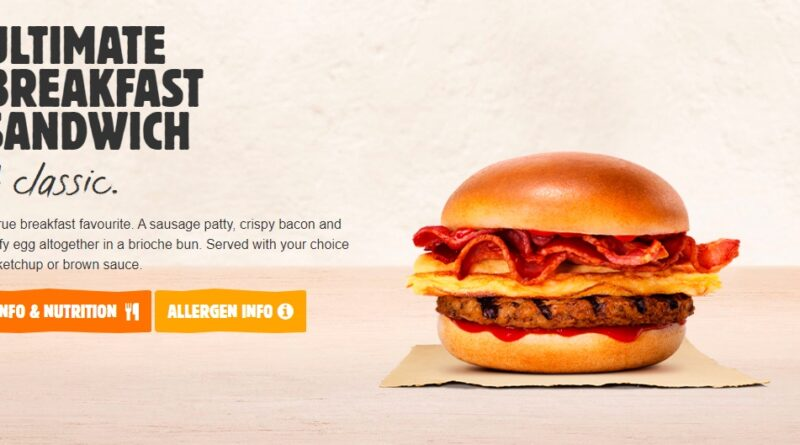 Burger King Ultimate Breakfast Sandwich