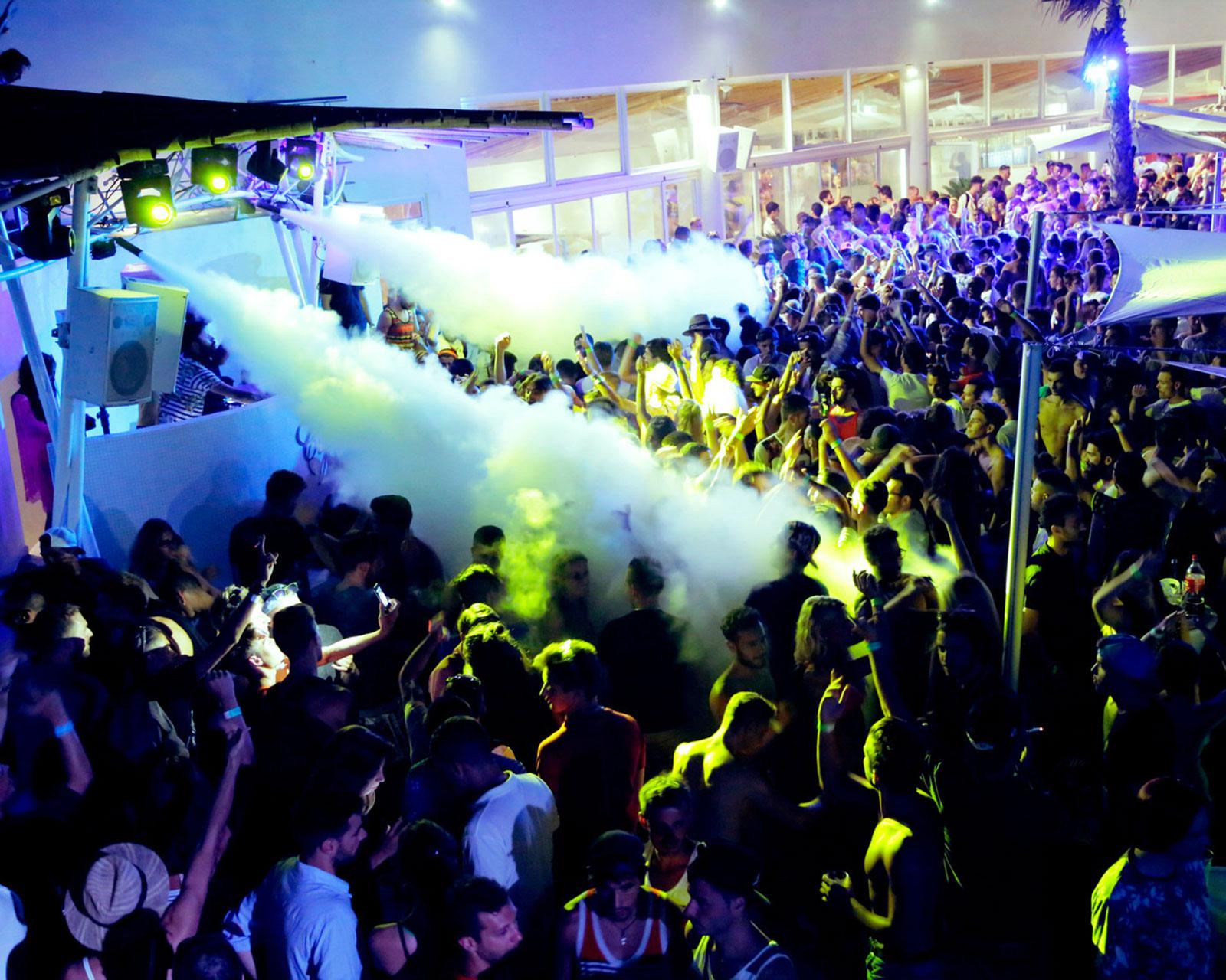 crowd at cafe del mar in malta at disturbing malta festival 2020