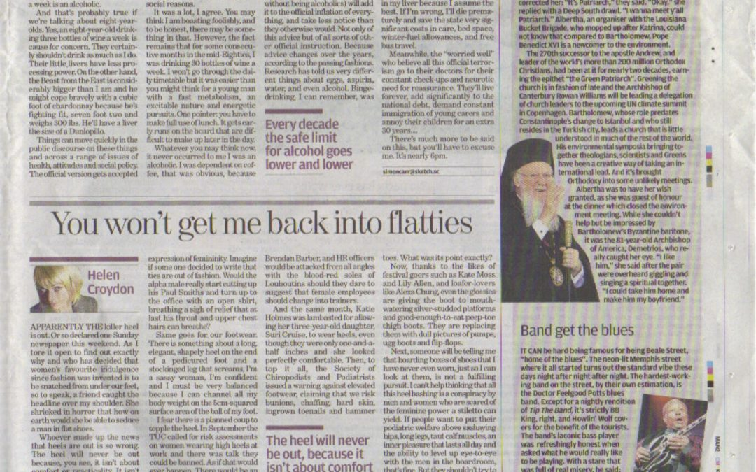 Independent: Do we have to go back to flatties