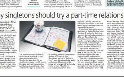 Metro: No time for a relationship? Go part-time
