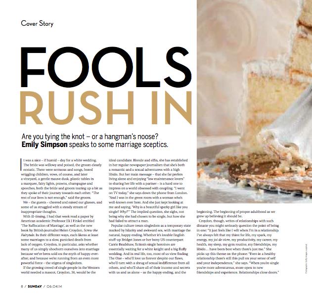 Sunday Mag: Fools rush in