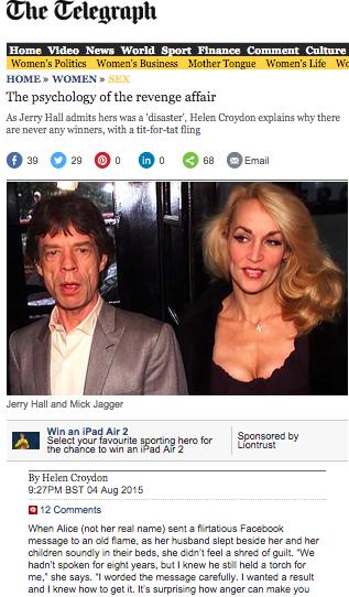 Telegraph: The psychology of the revenge affair