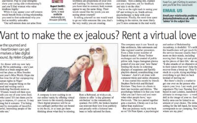 Metro: Rent a rebound – The extreme actions of the love spurned