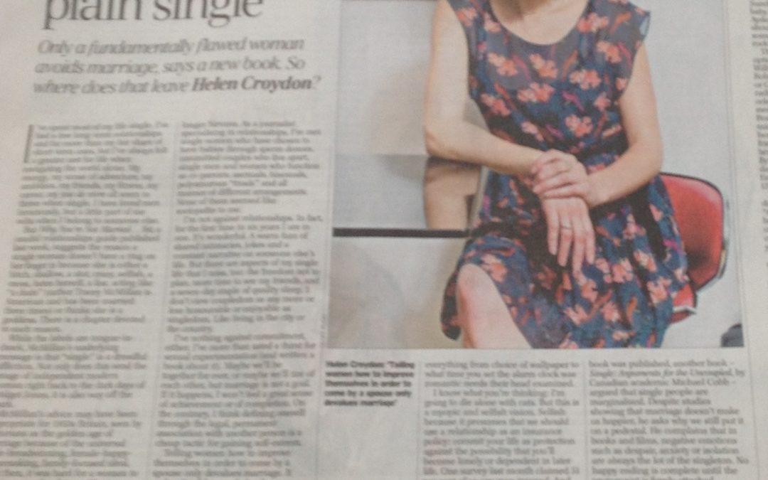 Telegraph: Slut? Sad? Selfish? No just single