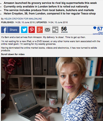 Mail Online: Amazon Fresh takes on Tesco but how does it compare?