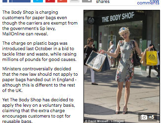 Mail Online: The 'free' bags that cost 5p