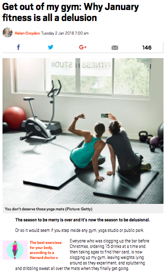 Metro: Get out of my gym in January