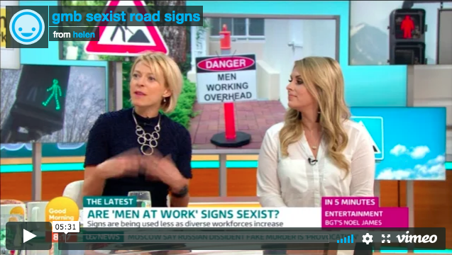 ITV: Are 'Men at Work' road signs sexist?