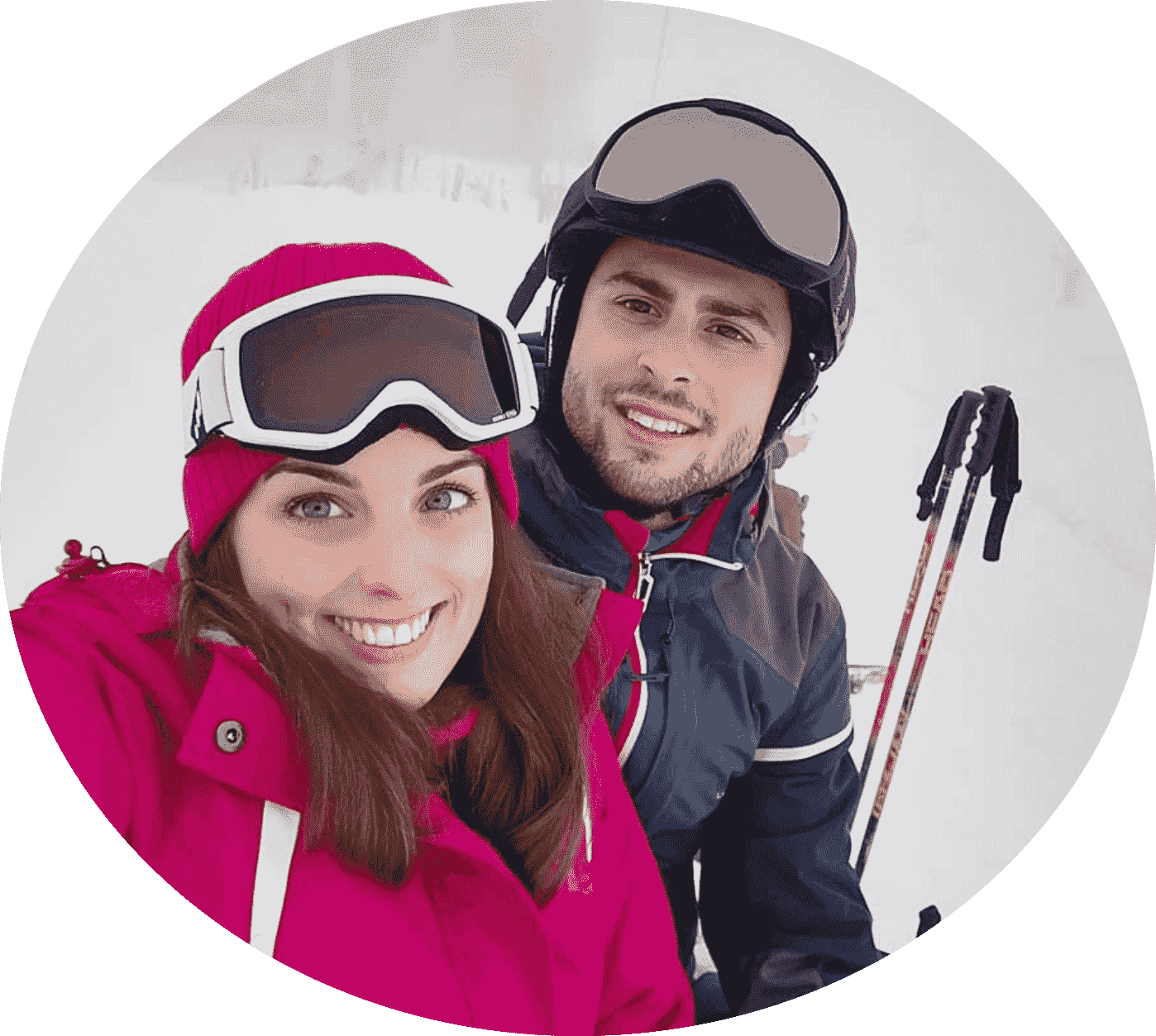 Couple My-Mountains Switzerland Ski Lessons